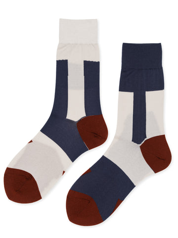 Abstract Crew Socks