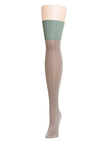 Two-Tone Shimmer Thigh Highs