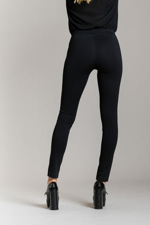 leggings con similpelle