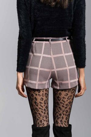Short in knitted jacquard