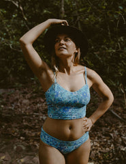 conscious swimwear australia, crop top, stevie ocean
