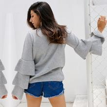 ESTHER RUFFLES WINTER SWEATER - BLITZ & GLITZ
