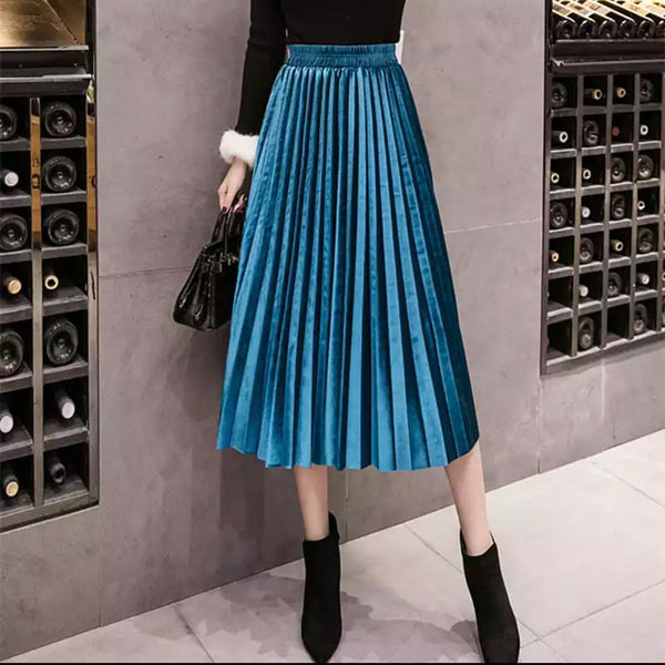 Milano Pleated metallic Skirt