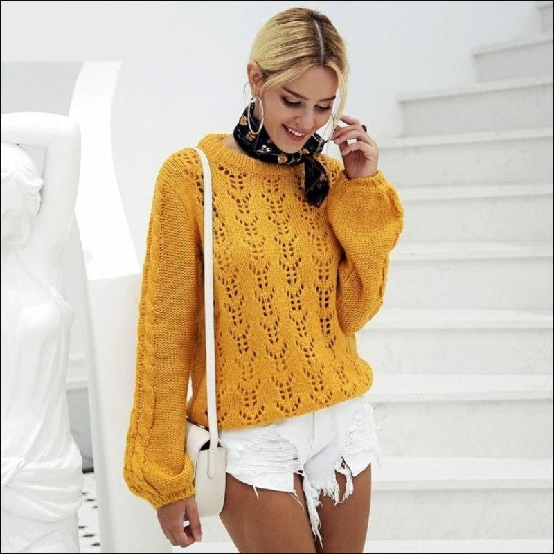 AUTUMN CASUAL LOOSE KNITTED SWEATER 2018 - BLITZ & GLITZ