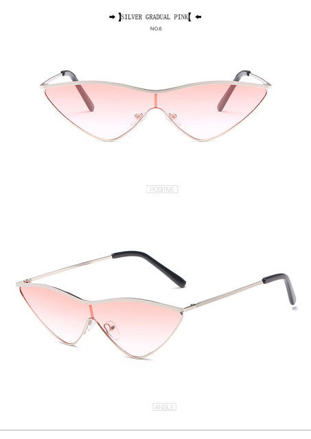 BUTTERFLY RETRO TRIANGLE SUNGLASSES - BLITZ & GLITZ