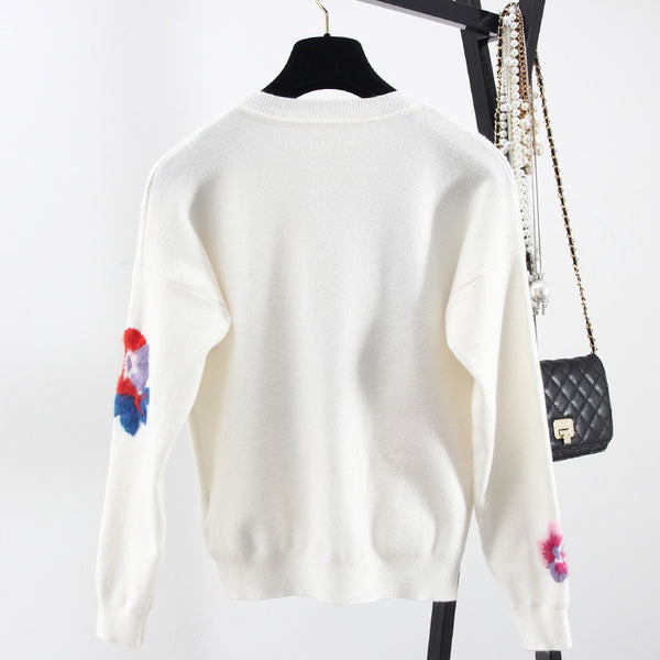 ENGLEWOOD EMBROIDERED SWEATER - BLITZ & GLITZ