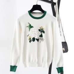 LANCESTER EMBROIDERED SWEATER - BLITZ & GLITZ