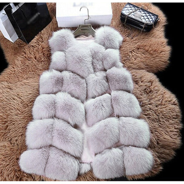 WINTER CASUAL VEST FAUX FUR SLEEVELESS - BLITZ & GLITZ