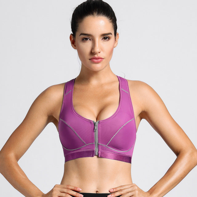 POSTURE SUPPORT RACERBACK SPORTS BRA HIGH IMPACT FRONT CLOSURE - BLITZ & GLITZ