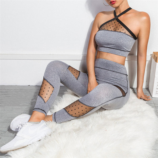 ATHLEISURE 2 PIECE SET FITNESS PANTS AND BRA - BLITZ & GLITZ