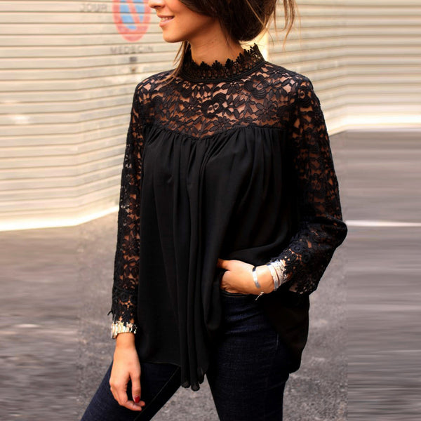 TEXAS LACE LONG SLEEVE BLOUSE