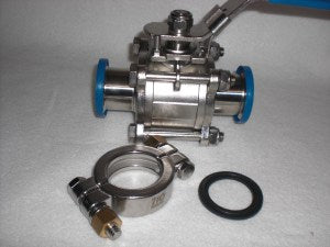 PTFE and Stainless Steel Ball Valve Kit | Global Material Processing