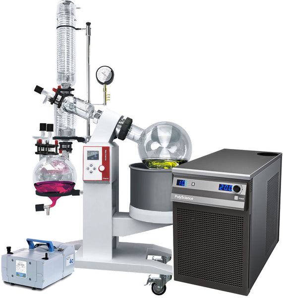 Ai 10L SolventVap w/ PolyScience Chiller & Vacuubrand Pump 220V | Global Material Processing
