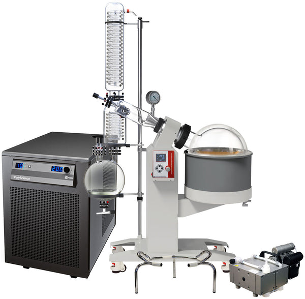 Ai 20L SolventVap w/ PolyScience Chiller & Welch PTFE Pump 220V | Global Material Processing