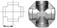 Cross SS304 Stainless Steel 1/4"