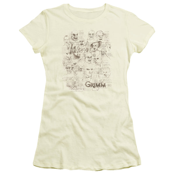 Grimm Wesen Sketches ♥ Big Ones Fitted T-Shirt