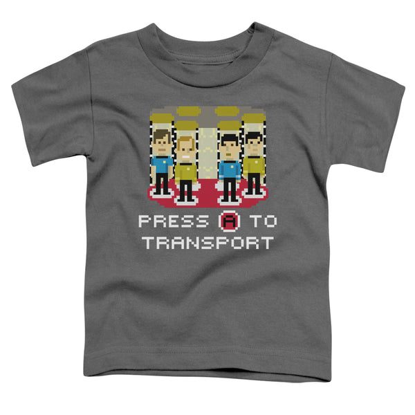 Star Trek - Press A To Transport Short Sleeve Toddler Tee
