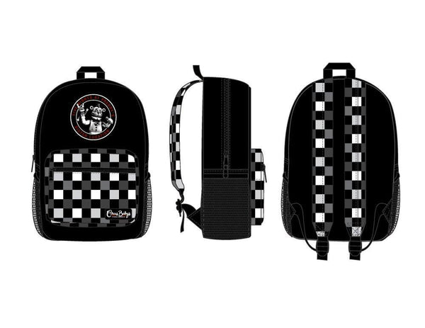 Five Nights at Freddies Black with Checkered Print Backpack