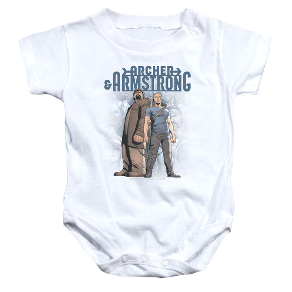 Archer & Armstrong Two Against All ♥ Infant Snapsuit