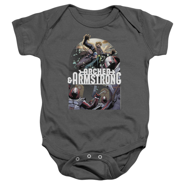 Archer & Armstrong Dropping In ♥ Infant Snapsuit