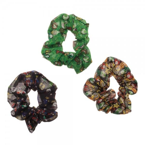Super Mario Bros. 3 Pack Scrunchies - Little Geeklings