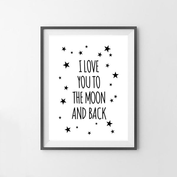To The Moon And Back Canvas Art Print