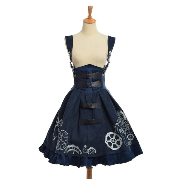Cosplay Steampunk Victorian Suspender Dress - Little Geeklings