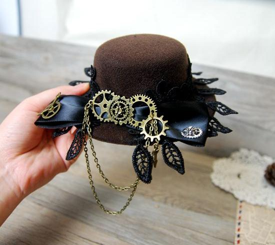 Steampunktress Mini Top Hat - Little Geeklings