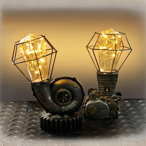Steampunk Resin Night Lights