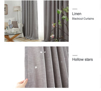 Starry Hollowed Curtains