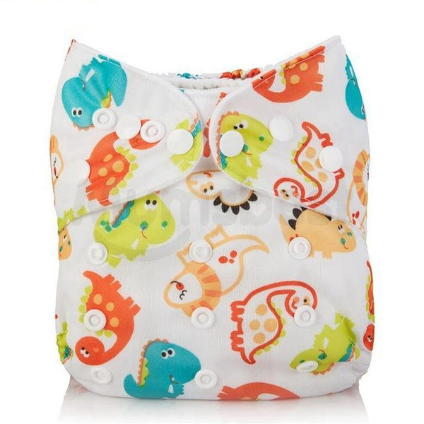 Dino All Over Adjustable Cloth Diaper - Little Geeklings