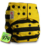 Nod to Transformers Bumblebee Adjustable Cloth Diaper - Little Geeklings