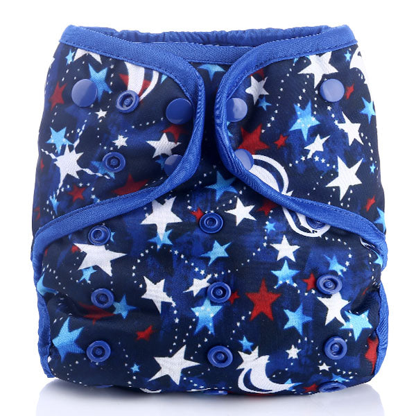 Red White & Moon Adjustable Cloth Diaper - Little Geeklings