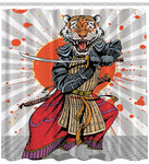 Tiger Ninja Warrior Shower Curtain