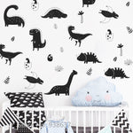 Contrast Dino Wall Decals - Little Geeklings