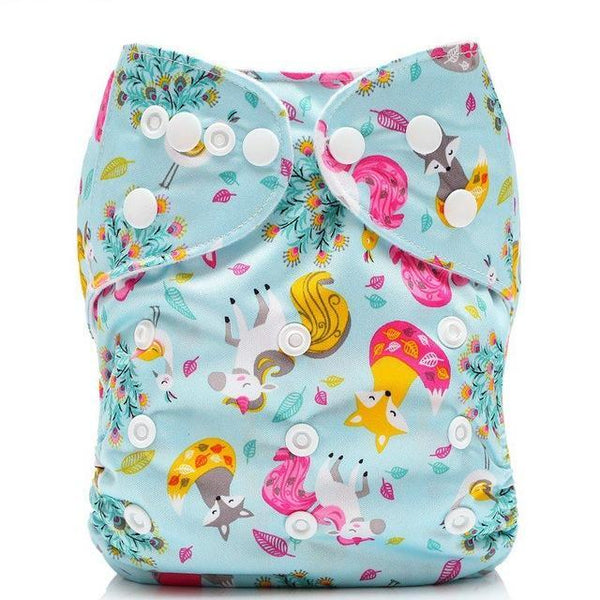 Unicorn & Forest Friends Adjustable Cloth Diaper