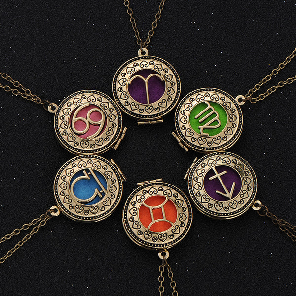 Kingdom Hearts Inspired Zodiac Aromatherapy Necklaces - Little Geeklings