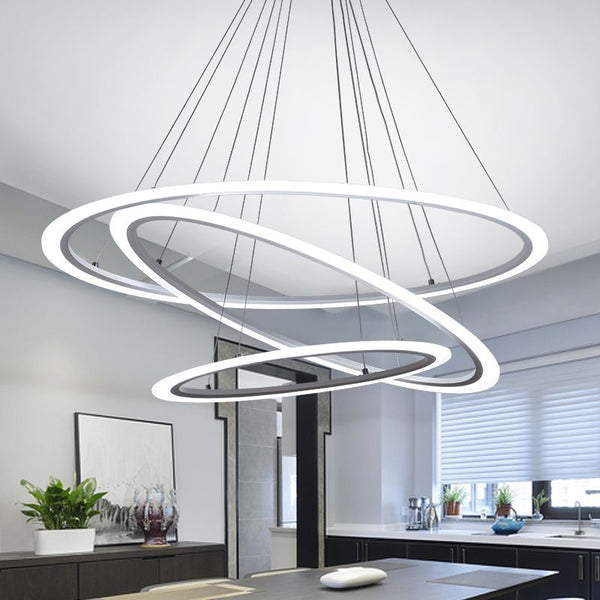 Multi Dimension Round Pendant LED Acrylic Lamp