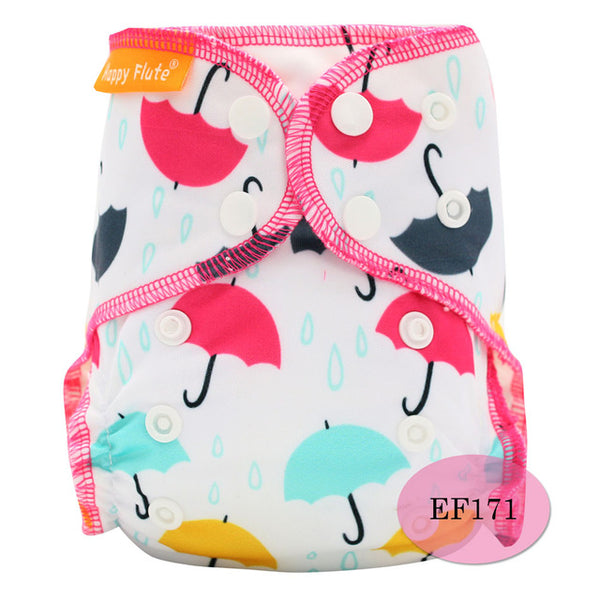 Rainy Days Organic Cotton Adjustable Cloth Diaper - Little Geeklings