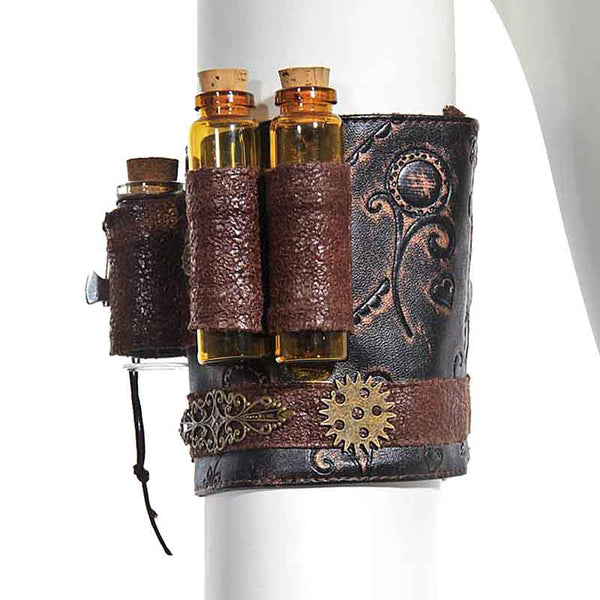 Steampunk Faux Leather Armband - Little Geeklings