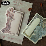 Mucha Inspired Goddess Sticky Notes - Little Geeklings