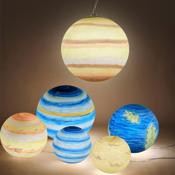 Acrylic Planet Pendant Lights - Little Geeklings
