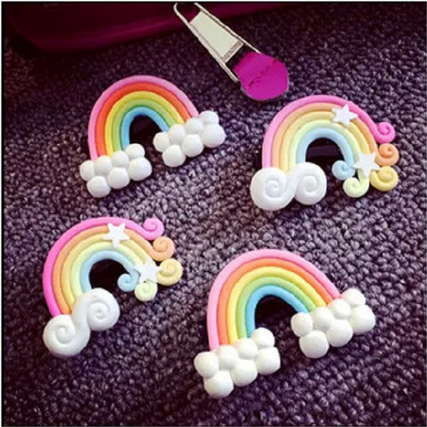 4Pcs Rainbow Hair Clip - Little Geeklings