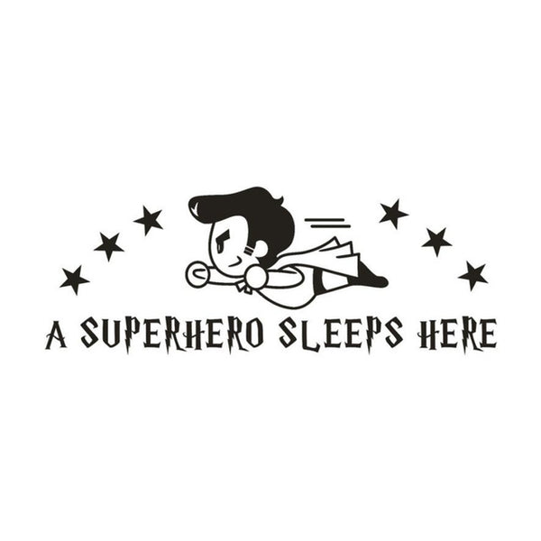 A Superhero Sleeps Here Wall Decal - Little Geeklings