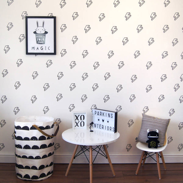 Lightning Bolt Wall Decals 2 - Little Geeklings