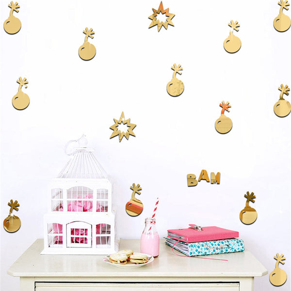 Bomb Mirrored Decorative Stickers - Little Geeklings
