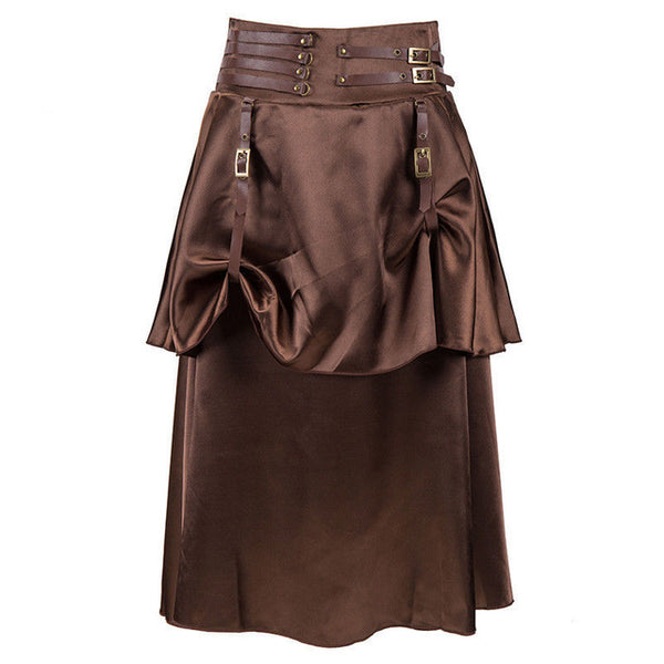 Ruffled Brown Skirt