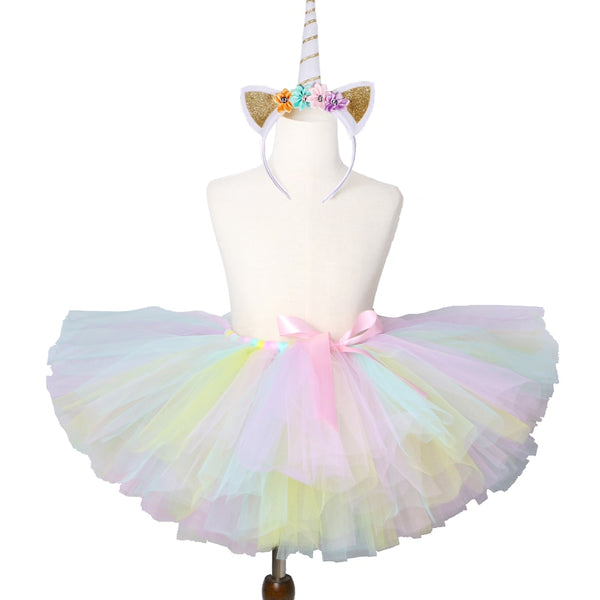 Pastel Rainbow Unicorn Tutu ♥ Fits 3M to 14 Years