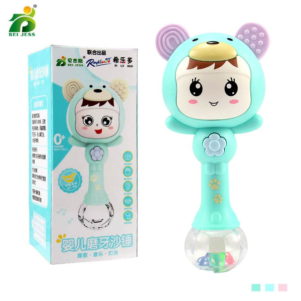 Kawaii Baby Rattle with Lights & Music