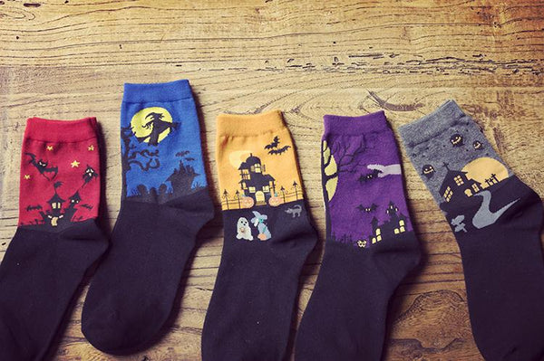 Spooky Socks (Young Ladies Sizing)